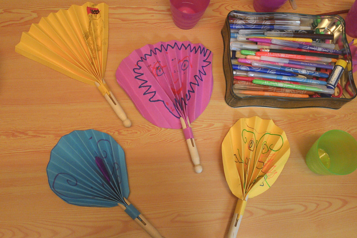 SAMS-art residential home sessions - Dolly Peg Fans for a hot summer's day!