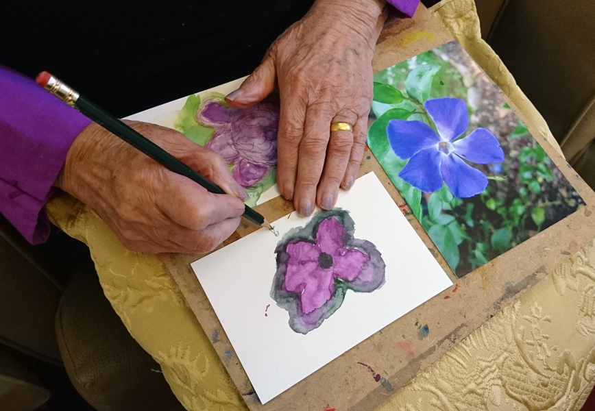 Watercolour Session in a Care Home